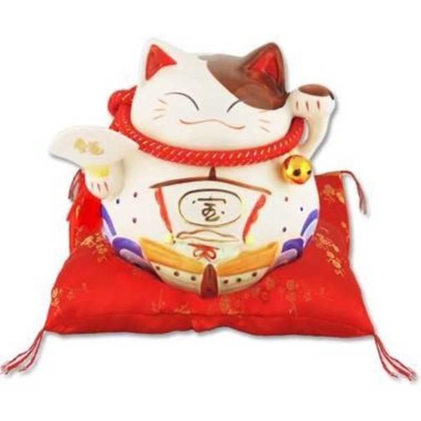 Японский кот-копилка Манеки-неко Удача!