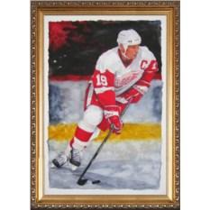 Оригинальный портрет хоккеисту