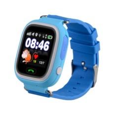 Голубые детские часы с GPS Smart Baby Watch Q80