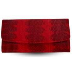 Женский красный кошелек из кожи змеи Bagira exotic