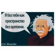 Магнит Эйнштейн. Я без тебя как пространство без времени