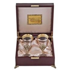 Набор бокалов для вина в футляре Богемия (2 бокала)