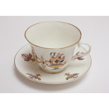 Чайная пара «Золотой лебедь»