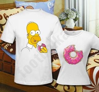 Набор с комплектом постельного белья Гомер и пончик