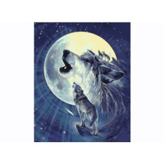 Картины по номерам «Волчье Солнце»