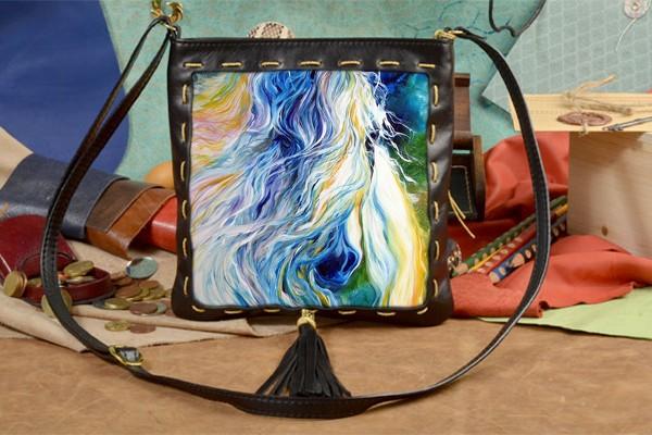 Женская сумка-планшет с принтом Прекрасная лошадь