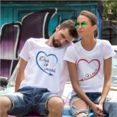 Парные футболки «Она со мной»