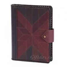 Красно-коричневый кожаный ежедневник