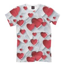Мужская футболка Сердца