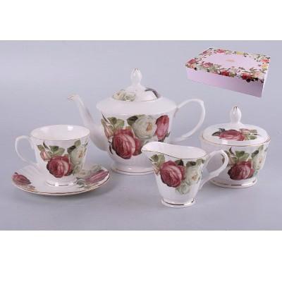 Чайный набор на 6 персон Пионы