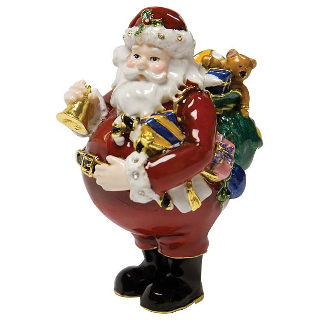 Шкатулка «Дед Мороз с мешком»