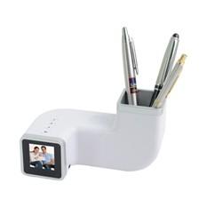 Цифровая фоторамка с часами и подставкой под ручки