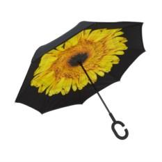 Желтый обратный ветрозащитный зонт Up-brella Цветок