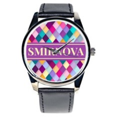 Часы с вашей фамилией или именем Rhombus