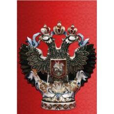 Штоф для напитков Двуглавый орел, цветной 3 л