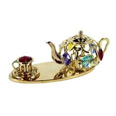 Фигурка декоративная Swarovski «Чайник с чашкой»