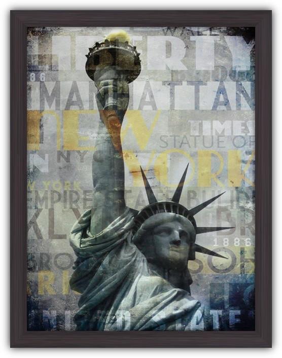 Картина (репродукция) Нью Йорк (Статуя Свободы)