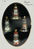 Набор ёлочных игрушек, колокольчики с узором