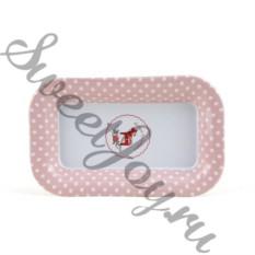 Металлическая тарелка Pony Pink