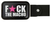 Ремень с пряжкой BB1 FuCK THE MACHO