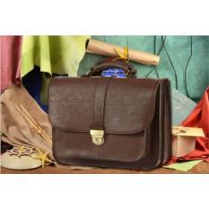 Коричневый мужской кожаный портфель M.Studio