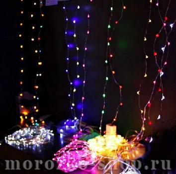 Гирлянда Капельки, 100 фиолетовых минидиодов (LED), 10 м