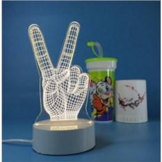 3D лампа Peace
