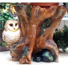 Садовая фигура-кашпо Пень с совой