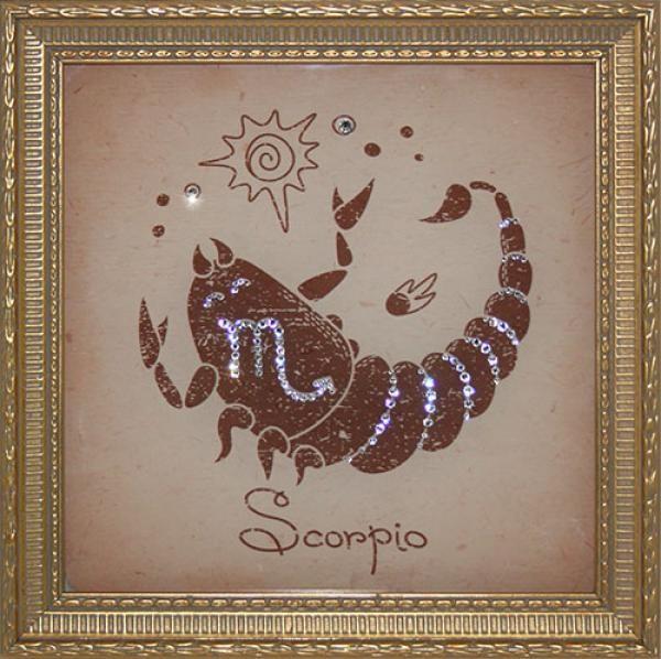 Картина Скорпион Малый (с кристаллами Сваровски)