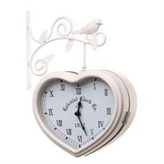 Часы на кронштейне «Сердце»
