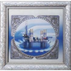 Картина с кристаллами Сваровски Нефть-3