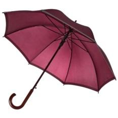 Бордовый зонт-трость со светоотражающей полосой Unit Reflect