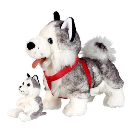 Интерактивная игрушка Собака Хаски со щенком
