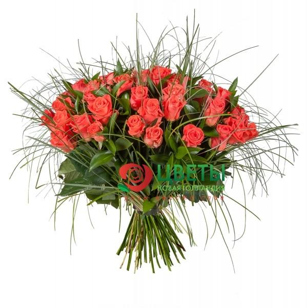 Букет цветов Мармеладка, 51 шт