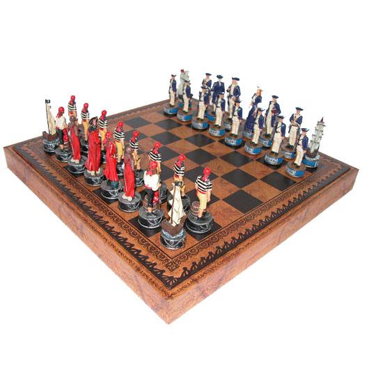 Шахматная доска и шахматные фигуры «Пираты Карибского моря»