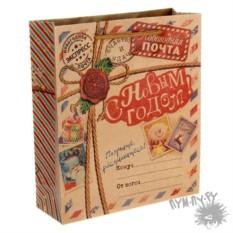 Крафт пакет Новогодняя почта