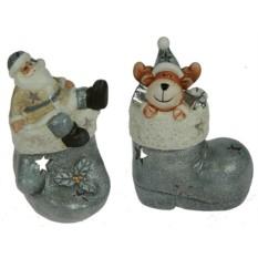 Новогодний сувенир Дед Мороз и олень