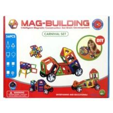 56 деталей магнитного конструктора Mag-Building