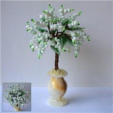 Дерево любви из кахолонга в вазочке из оникса