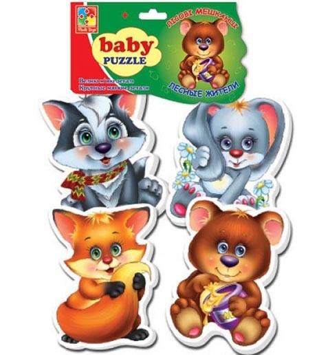 Мягкие пазлы Baby puzzle Лесные жители
