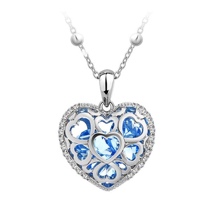 Кулон с чешскими кристаллами «Каменное сердце»