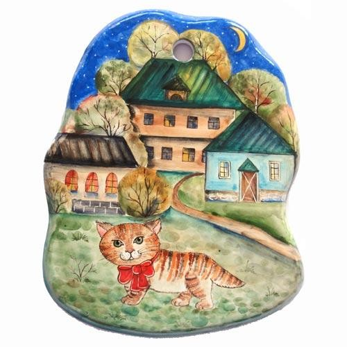 Сырная доска Рыжий кот малая
