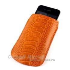 Чехол для iPhone из кожи ноги страуса