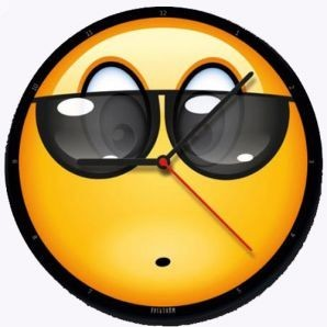 Настенные часы  «Смайл в очках»