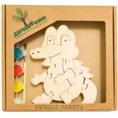 Развивающая игрушка Крокодильчик с красками