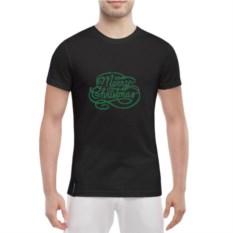 Мужская футболка Merry Cristmas (цвет: черный)