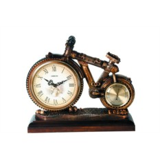 Настольные часы с термометром Велосипед Lisheng