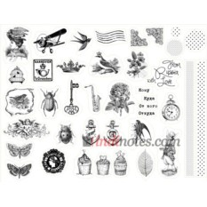 Лист виниловых наклеек Mail art - 1