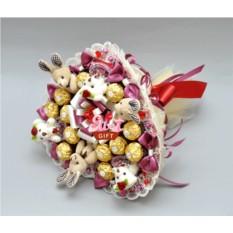 Букет из мягких игрушек и конфет Конфитюр