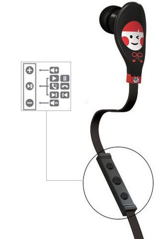 Наушники Ounuo iDot III с гарнитурой (Black/Red)